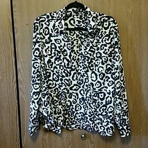 Leopard print blouse shirt 8